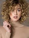 Synthetische pruiken Gekruld Blond Zijdeel Blond Synthetisch haar Dames Modieus Blond Pruik Kort Zonder kap StrongBeauty
