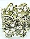 Жен. Вырезка Браслет цельное кольцо - Цветы Массивный, европейский, Мода Браслеты Назначение Для вечеринок / Повседневные