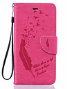 Coque Pour Apple iPhone 6 iPhone 6 Plus Porte Carte Portefeuille Etanche a la Poussiere Antichoc Avec Support Coque Integrale Plumes