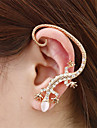 HUALUO@Korean Jewelry Popular Nightclub Bright Diamond Ear Hook Earrings Rose gold Earrings Exaggerated GeckoImitation Diamond Birthstone