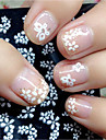 Mixed 30 Sheets Nail Sticker Beauty Floral Design Patterns Nagel Stickers Mixed Transfer Manicure Tips 3D Unhas Decals