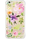 Para Capinha iPhone 6 Capinha iPhone 6 Plus Case Tampa Antichoque Anti-poeira Transparente Capa Traseira Capinha Flor Macia TPU para Apple