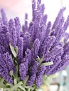 Artificial Flowers 1 Branch Pastoral Style Lavender Tabletop Flower