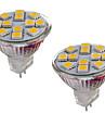 2W GU4(MR11) Двухштырьковые LED лампы MR11 12 светодиоды SMD 5050 Декоративная Тёплый белый Холодный белый 150-200lm 3000-3500/6000-6500K