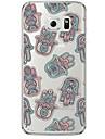 Para Samsung Galaxy S7 Edge Case Tampa Transparente Estampada Capa Traseira Capinha Desenho Animado Macia PUT para Samsung S7 edge S7 S6