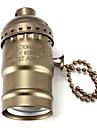 e27 titular soquete de lampada bulbo base de baquelite com interruptor de bronze / prata / preto / dourado
