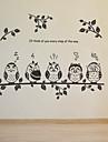 Мультипликация Наклейки Простые наклейки Декоративные наклейки на стены,PVC материал Съемная Украшение дома Наклейка на стену