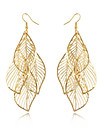 Women\'s Tassel / Hollow Out / Long Earrings - Leaf Tassel, Bohemian, Fashion Golden For Daily / Casual