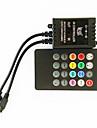 zdm® 20 키 70w 적외선 음악이 주도 RGB 스트립 조명을위한 LED 컨트롤러 (DC12-24V)