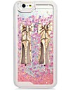 Для Кейс для iPhone 6 / Кейс для iPhone 6 Plus Движущаяся жидкость / С узором Кейс для Задняя крышка Кейс для Соблазнительная девушка