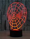Spider-man tactile gradation 3d led nuit lumiere 7colorful decoration atmosphere lampe nouveaute eclairage lumiere