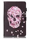 Для Кейс для  Samsung Galaxy Кошелек / Бумажник для карт / со стендом / Флип / Рельефный / С узором Кейс для Чехол Кейс для Череп Твердый