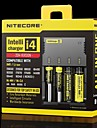 Nitecore I4 Chargers Adjustable High Quality Quick Charging for Li-ion Nickel Metal Hydride Nickel Cadmium 26650, 22650, 18650, 17670,