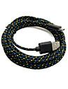 tubarao velho ™ 2 pacotes de 2m seis pes micro usb de carregamento e sincronizacao de dados cabo de tecido cabo trancado de tecido preto para samsung