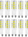 hkv® 10pcs 4w g9 conduit bi-broches lumieres 51 smd 2835 400-500 lm blanc chaud blanc froid 3000/6000 k etanche decoratif ac 220-240 v