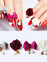 4 pcs Украшения для ногтей Цветы / Мода Повседневные Дизайн ногтей