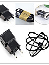 Charger Kit EU Plug Car Charger Home Charger with Cable for iphone 8 7 Samsung S8 S7 S3 4 5 6 7 (5V1A)