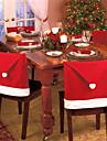 4pcs mode noel casquette clause chapeau rouge chaise meubles couverture arriere noel table noel fete nouvelle decoration de l\'annee