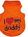 Кошка Собака Жилет Одежда для собак С сердцем Оранжевый Серый Синий Розовый Хлопок Костюм Для домашних животных Муж. Жен. Очаровательный