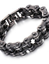 Men\'s Chain Bracelet - Stainless Steel Fashion Bracelet Black For Christmas Gifts Party Anniversary