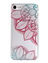 Для Кейс для iPhone 7 / Кейс для iPhone 7 Plus / Кейс для iPhone 6 С узором Кейс для Задняя крышка Кейс для Цветы Мягкий TPU AppleiPhone