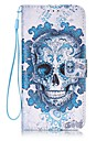 Skull Painted PU Leather Material of the Card Holder Phone Case Foramsung GalaxyS4 S5 S6 S6 Edge S7 S7 Edge