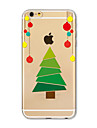 Coque Pour Apple iPhone X iPhone 8 Plus iPhone 7 iPhone 7 Plus iPhone 6 Translucide Motif Coque Arriere Noel Flexible TPU pour iPhone X