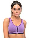 Women Sexy Front Zipper Sports Bra Wireless Push Up Padded Yoga Tops