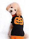 강아지 스웨터 강아지 의류 귀여운 휴일 할로윈 호박 블랙