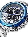 Муж. Нарядные часы Наручные часы Кварцевый Японский кварц Календарь Защита от влаги Фосфоресцирующий Нержавеющая сталь Группа Роскошь На