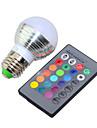 1db 3 W 150 lm E26 / E27 Okos LED izzók G45 1 LED gyöngyök Nagyteljesítményű LED Tompítható / Távvezérlésű / Dekoratív RGB 85-265 V / 1 db. / RoHs