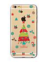 Для Кейс для iPhone 7 / Кейс для iPhone 7 Plus / Кейс для iPhone 6 Полупрозрачный / С узором Кейс для Задняя крышка Кейс дляНовогодняя