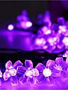Гирлянды 50 светодиоды Тёплый белый RGB Белый Розовый Фиолетовый Синий Перезаряжаемый Диммируемая Водонепроницаемый 100-240V