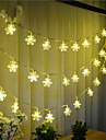 String Lights 100 LEDs Warm White Remote Control / RC Dimmable Waterproof Color-Changing Linkable 220V