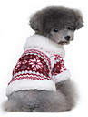 Dog Coat Sweater Dog Clothes Classic Keep Warm Snowflake Black Red Costume For Pets
