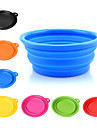 L Dog Bowls & Water Bottles Pet Bowls & Feeding Portable Foldable Yellow Red Green Blue Pink