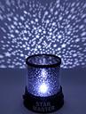 färgskiftande stjärnan skönhet starry sky projektor nattlampa (3xAA, slumpmässig färg)