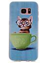Capinha Para Samsung Galaxy S8 Plus S8 Estampada Capa traseira Gato Macia TPU para S8 Plus S8 S7 edge S7 S6 edge S6 S5 S4 S3