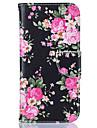 케이스 제품 Samsung Galaxy S7 edge S7 카드 홀더 지갑 스탠드 패턴 전체 바디 케이스 꽃장식 하드 PU 가죽 용 S7 edge S7 S6 edge S6 S5