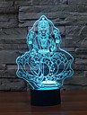 Figure of Buddha Touch Dimming 3D LED Night Light 7Colorful Decoration Atmosphere Lamp Novelty Lighting Christmas Light