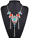 Women\'s Turquoise Pendant Necklace Statement Necklace Long Necklace Resin Turquoise Ladies European Fashion Rainbow Necklace Jewelry For Wedding Party Daily Casual Sports