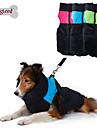 Собаки Плащи Жилет Одежда для собак Сохраняет тепло Цветовые блоки Зеленый Синий Розовый