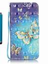 Pour Portefeuille Porte Carte Avec Support Coque Coque Integrale Coque Papillon Dur Cuir PU pour Samsung A5(2016) A3(2016)