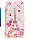 Capinha Para Samsung Galaxy S7 edge S7 Porta-Cartao Carteira Com Suporte Corpo Inteiro Torre Eiffel Rigida Couro Ecologico para S7 edge