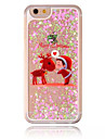 For iPhone 7 Case / iPhone 6 Case / iPhone 5 Case Flowing Liquid / Transparent / Pattern Case Back Cover Case Christmas Hard PC Apple