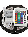 Z®ZDM 5M 24W 300x2835RGB SMD  Light LED Strip Light 24Key IR Remote Controller Kit (DC12V)