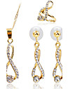 Women\'s Synthetic Diamond Jewelry Set - Include Gold For Party / Daily / Casual / Rings
