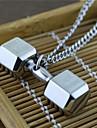 남성용 팬던트 목걸이 덤벨 티타늄 스틸 댕글링 스타일 USA 의상 보석 보석류 제품 파티 일상 캐쥬얼