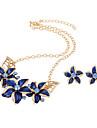 Bijoux 1 Collier / 1 Paire de Boucles d\'Oreille Mariage / Soiree / Quotidien / Decontracte 1set Femme Noir / Blanc / Bleu / Regency