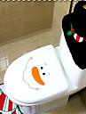 3db / készlet santa dísz hóember WC-ülés fedél szőnyeg fürdőszoba szőnyeg karácsonyi karácsonyi dekoráció otthon